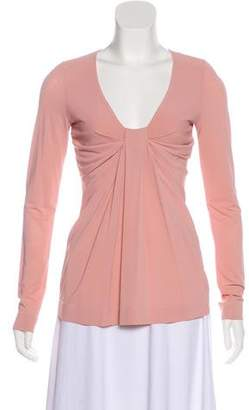 RED Valentino Long Sleeve Knit Top
