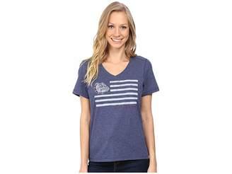 Life is Good Georgia Flag Cool Vee Women's T Shirt