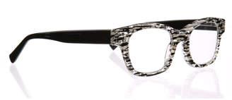 Eyebobs Fizz Ed Two-Tone Square Readers, Black/White