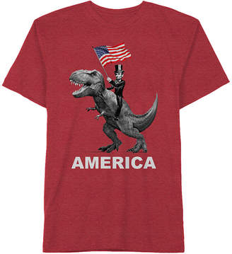 Americana NOVELTY PROMOTIONAL Fourth of July Dinosaur Graphic Tee