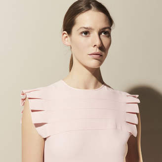 Sandro Dress with pleated detail at the collar