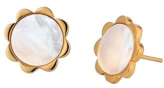 Asha Flower Mother-of-Pearl Stud Earrings