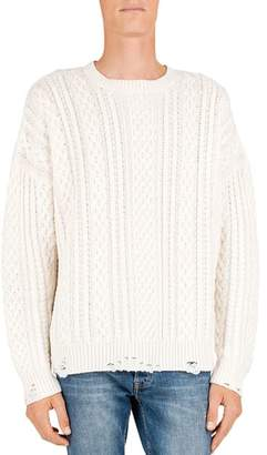 The Kooples Cable-Knit Wool & Cashmere Sweater