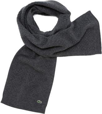 Lacoste (ラコステ) - 温度調節素材鹿の子編みマフラー