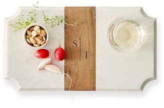 Mark And Graham Wood and Marble Cheese Board, Beveled