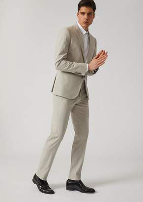 Emporio Armani Single-Breasted Stretch Cotton Suit