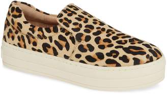J/Slides Harry Genuine Calf Hair Slip-On Sneaker