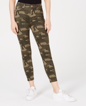 Celebrity Pink Juniors' Camo-Print High-Rise Skinny Jeans