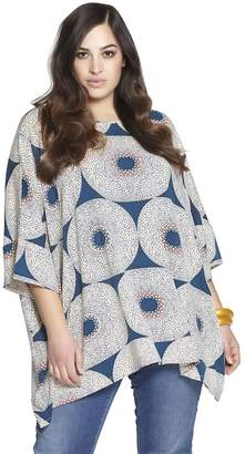Printed Stretch Rayon Tunic Top
