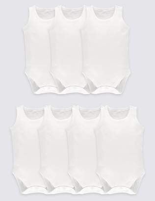 Marks and Spencer 7 Pack Unisex Pure Cotton Bodysuits