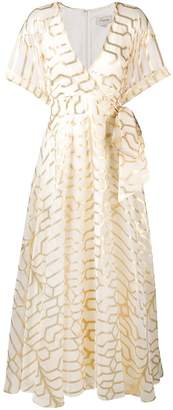 Temperley London wrap style full-length dress