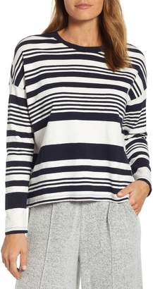 Lou & Grey Bonnie Variegated Stripe Long Sleeve Cotton Top