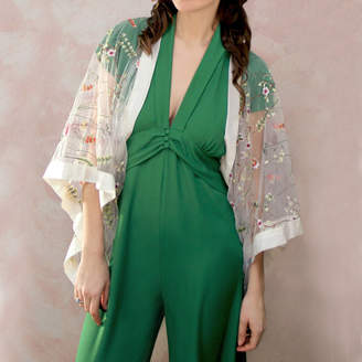 M·A·C Nancy Mac Shrug In Meadow Flower Embroidered Lace