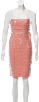 Herve Leger Frances Sequin Dress