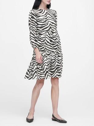 Banana Republic JAPAN EXCLUSIVE Zebra Print Tiered Dress