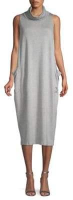 Eileen Fisher Cowlneck Midi Dress