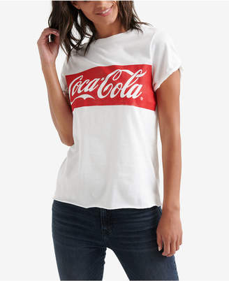 Lucky Brand Cotton Coca-Cola Banner T-Shirt