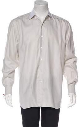 Tom Ford Herringbone French Cuff Shirt