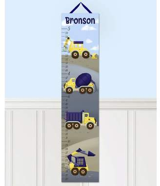 DAY Birger et Mikkelsen Toad and Lily Construction Truck Personalized Canvas Growth Chart
