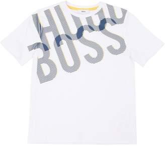 HUGO BOSS Logo Print Cotton Jersey T-Shirt