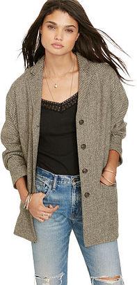 Ralph Lauren Denim & Supply Herringbone 4-Button Jacket $285 thestylecure.com