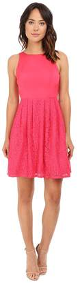 Adrianna Papell Sleeveless Lace and Faille Party Women's Dress