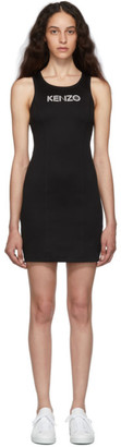 Kenzo Black Sport Logo Bodycon Tank Dress
