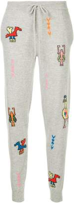 Parker Chinti & intarsia pattern jogging bottoms