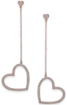 Kate Spade Gold-Tone Pavé Heart Linear Drop Earrings