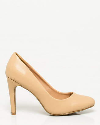 Le Château Leather-Like Almond Toe Pump