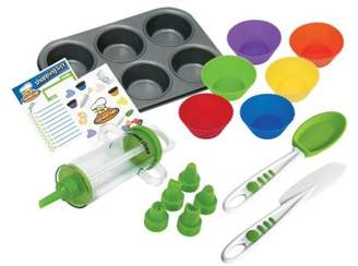 Curious Chef 16pc Cupcake and Decorating Kit - High Quality, Child Safe, Real Kitchen Tools for Kids