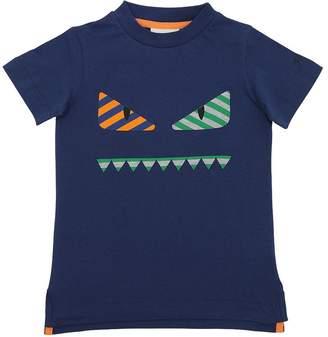 Fendi Monster Face Cotton Jersey T-Shirt