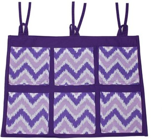 Bacati MixNMatch Purple Zigzag, Wall/Crib Storage Organizer, Purple