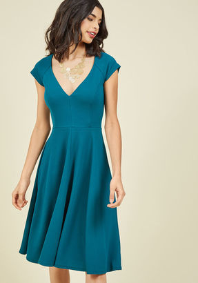 Name the Date A-Line Dress in Teal in S $59.99 thestylecure.com