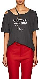 "R 13 Women's ""I Used To Be Punk Rock"" Cotton-Cashmere T-Shirt - Black"