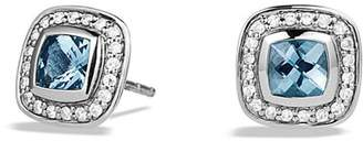 David Yurman Petite Albion Earrings with Blue Topaz and Diamonds