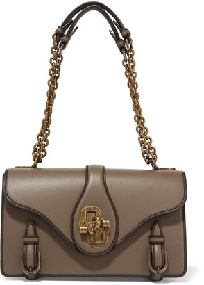Bottega Veneta - The City Knot Leather Shoulder Bag - Dark brown $4,000 thestylecure.com
