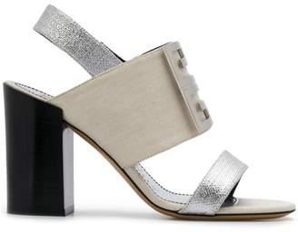 Givenchy logo plaque sandals
