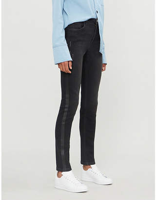 E.m. ME AND Side-stripe skinny high-rise jeans