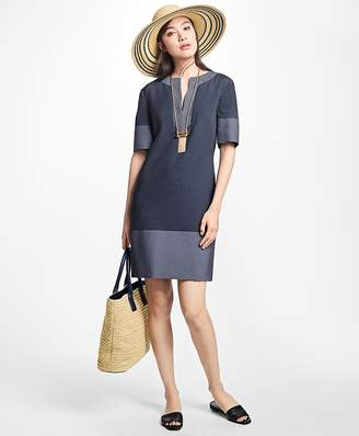 Corded Cotton-Blend Shift Dress $398 thestylecure.com