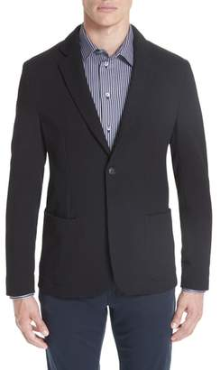 Emporio Armani Slim Fit Stretch Cotton Blend Blazer