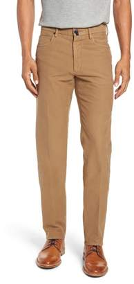 Incotex Five-Pocket Solid Stretch Cotton Trousers