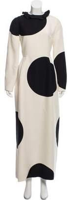Valentino 2018 Long Sleeve Maxi Dress