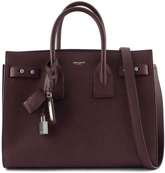Saint Laurent Classic Sac De Jour Bordeaux Soft Grained Leather.