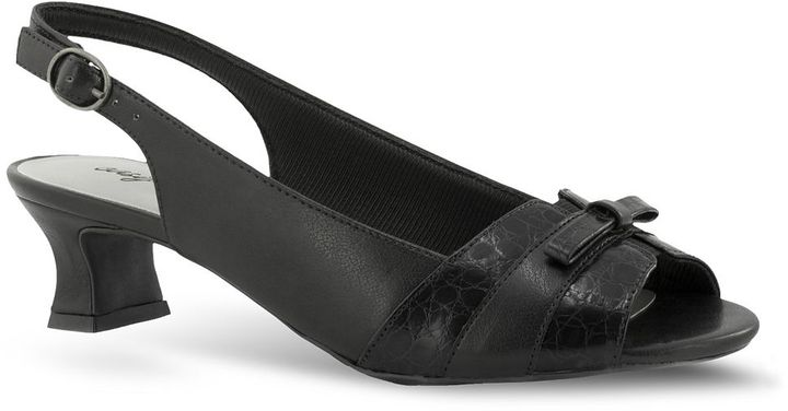 PeepToe Easy street alder narrow peep-toe slingback dress heels - women