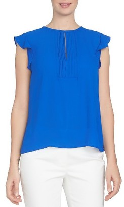 Women's Cece Ruffled Sleeve Pintuck Blouse $69 thestylecure.com