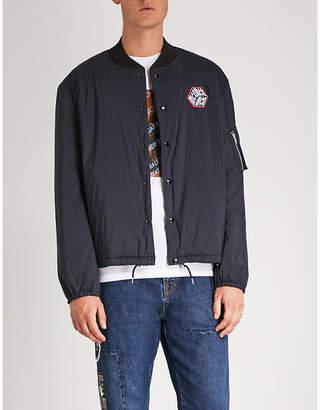 McQ Logo-patch shell bomber jacket
