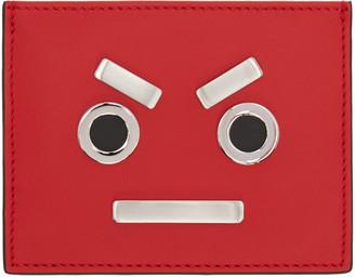 Fendi Red 'Fendi Faces' Card Holder $300 thestylecure.com