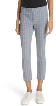 Theory Classic Check Skinny Pants