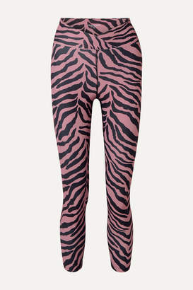 YEAR OF OURS Veronica Tiger-print Stretch Leggings - Pink